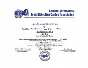 Certification for Alex & Duke