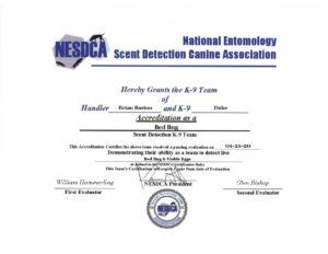 Certification for Brian & Duke